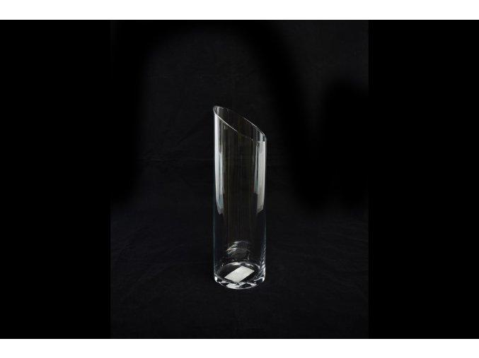 skleněná váza 40 x 12 cm