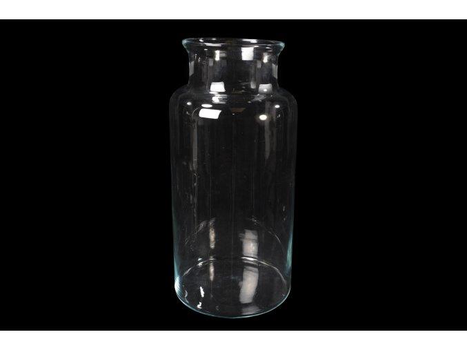 129470 candy vaza v pruhlednem skle d cm 26xv 55