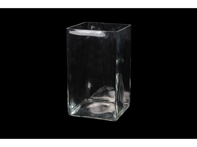 129473 vaza v pruhlednem skle d cm 12x12xh 25