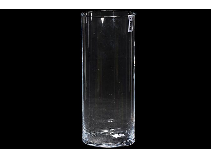 129494 sklenena vaza valec v cm 32 x h 12 5 cm