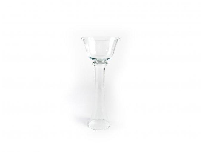 čirá skleněná váza v 80,5 cm x h 32,5 cm
