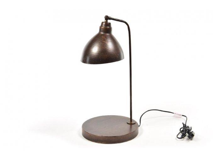 129743 vintage kovova stolni lampa s patici 35x29xh 56cm