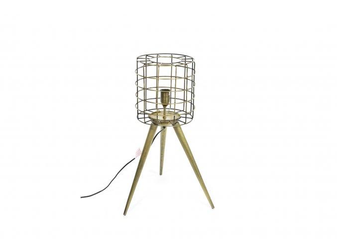129746 vintage stojaci lampa z kovu 26x40xh 65cm