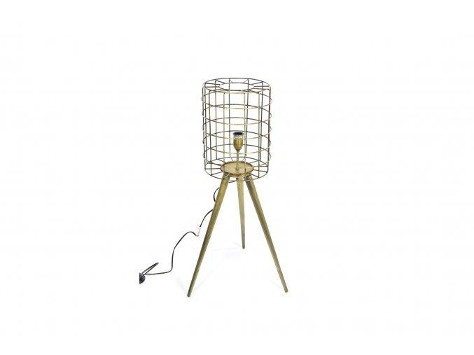 129749 vintage stojaci lampa z kovu 28x44xh 85cm