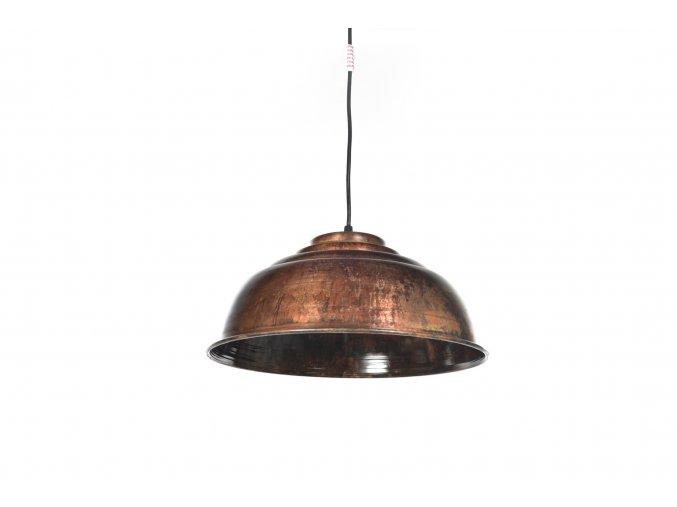 129764 vintage zavesna lampa z kovu o prumeru 35xh 22cm