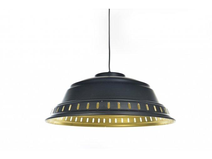 129770 vintage zavesna lampa v kovovem prumeru 52xh 20cm