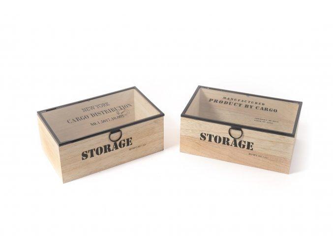 130769 metal drevena krabicka 24x14xh 9 5cm