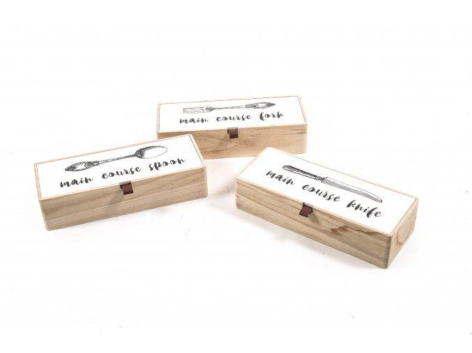 130784 kitchen drevena krabicka na pribory 26x10xh 6cm