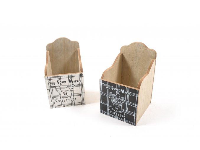 dřevěný držák na naběračky 10x11xh.17cm