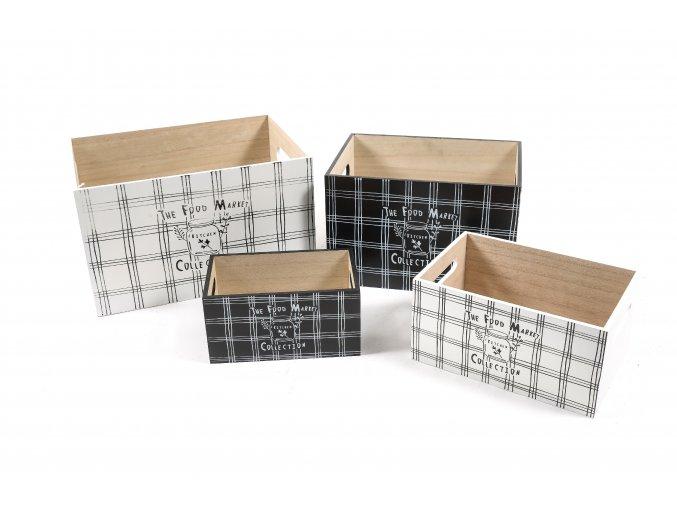 130808 sada 4 drevenych kitchen krabic 34x24xh 20cm 28x20xh 18cm 24x16 5xh 12cm 20x12xh 10cm