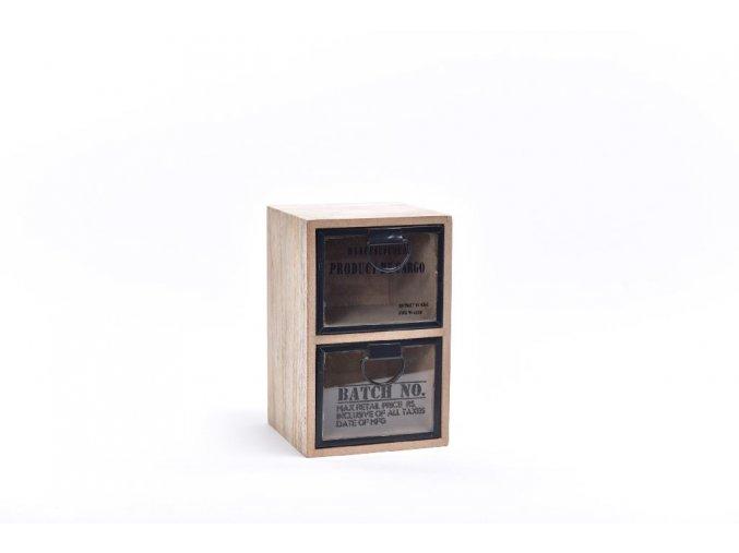 130823 drevena komoda metal 11x10 8xh 17 cm