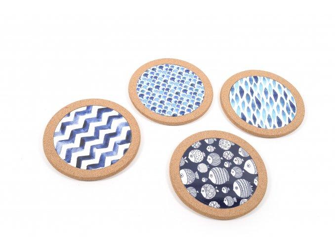 keramická dekorace s korkovým průměrem. 20cm různé vzory