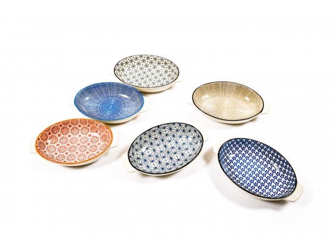 oválný talíř různé barvy 20x13xh.4cm
