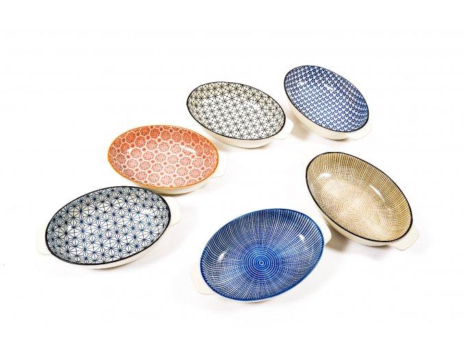 oválný talíř různé barvy 23x14xh,5cm
