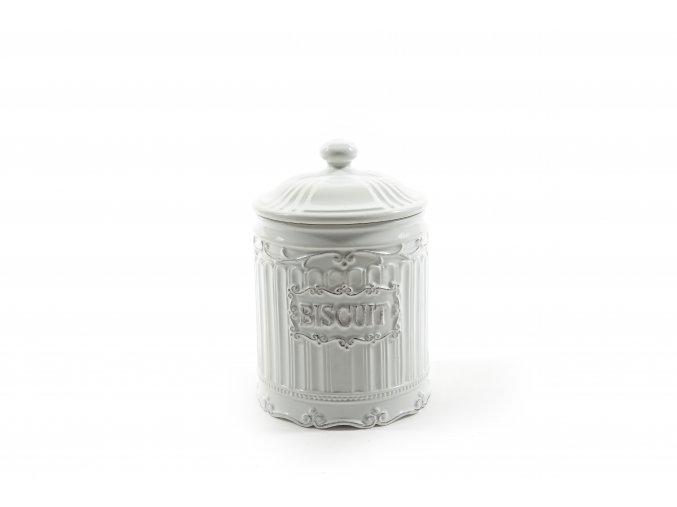 keramická nádoba na sušenky o průměru 14xv.21cm