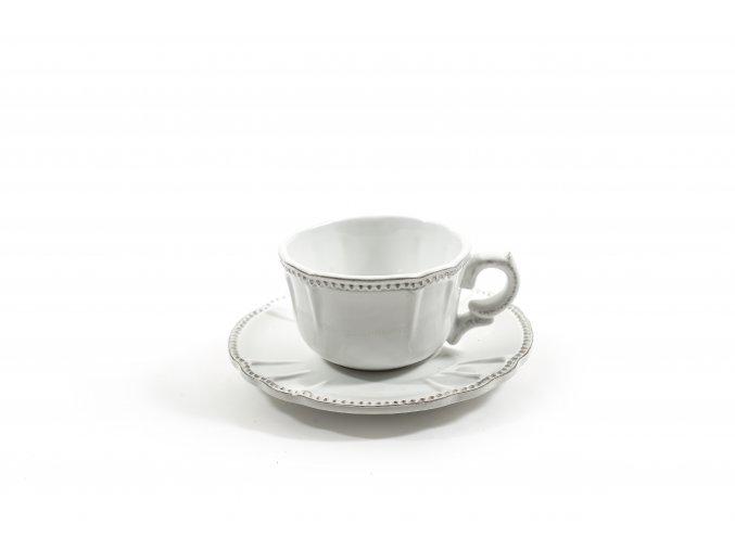 hrnek s talířem keramika o průměru 17xv.8cm