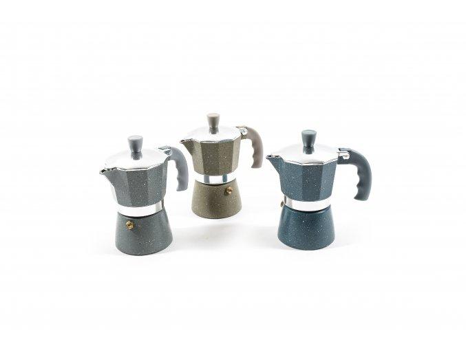 132128 moka kavovar v hlinik stone 2 salky 13x7 5xh 14 cm