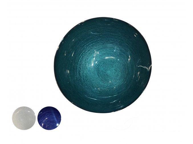 skleněná mísa v 12 cm x d 28 cm různé barvy