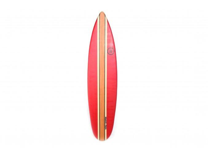 velký závěsný dřevěný surf 40x2,5x170cm