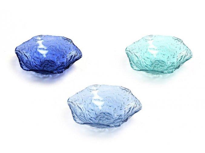 skleněný středový talíř cm 17 různé barvy
