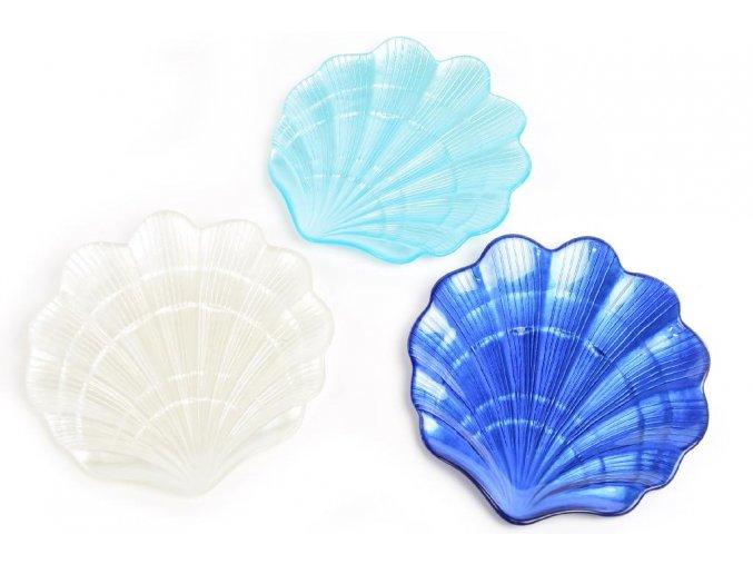 skleněný talíř 37 x 36,5 cm různé barvy