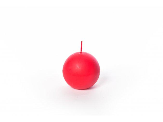134336 cervena mat sfericka svicka d 8 cm