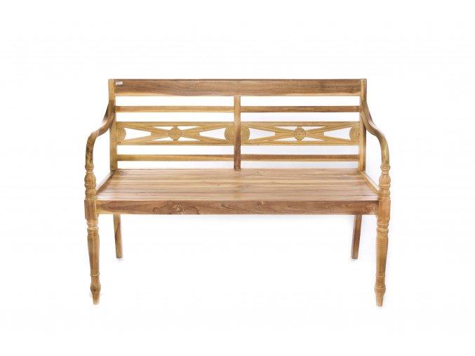 lavička z teakového dřeva 120x50xh.86cm