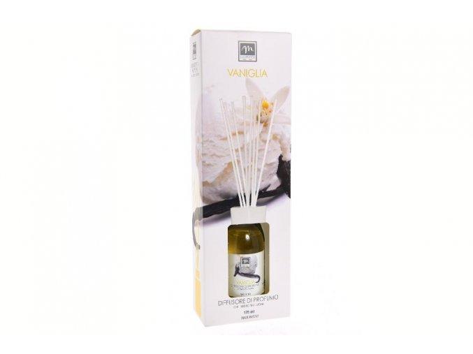 difuzér, s vatovými tyčinkami, vanilka a bavlna (125 ml)