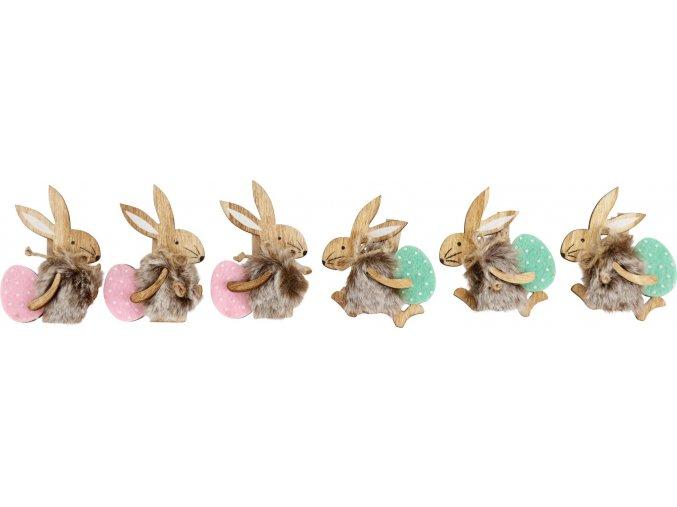 """kolíček zajíc s vajíčkem """"hasen mit ei"""" s/6"""