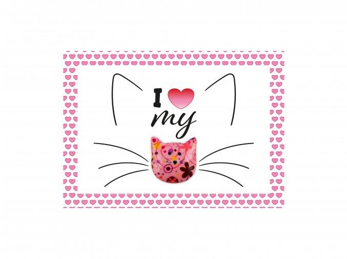 """VESELÝ CITÁT """"I LOVE MY CAT"""""""