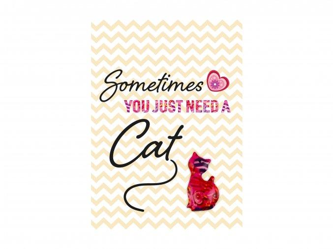 """VESELÝ CITÁT """"SOMETIMES YOU JUST NEED A CAT"""""""
