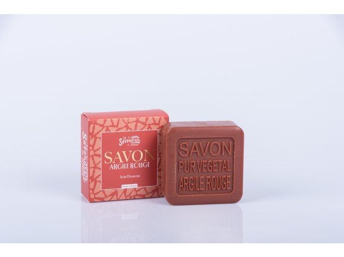 Mýdlo 100 gr Červený jíl