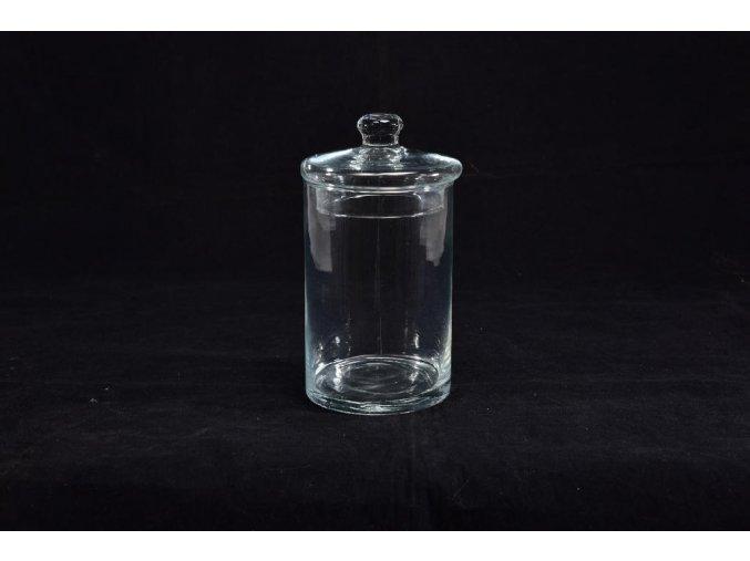 skleněná váza cm 8xh. 8