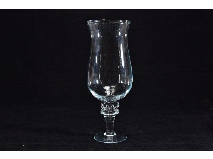 skleněná váza cm v 28 d cm 22