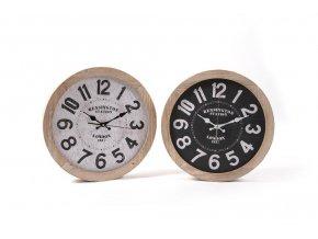 128852 drevene nastenne hodiny o prumeru 40x6 cm ruzne dekorace