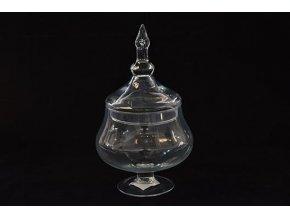 129353 sklenena vaza potiche d cm 14 xv cm 30