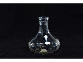 skleněná váza o průměru 21 x výška 23 cm