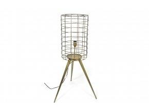 129752 vintage stojaci lampa z kovu 35x62xh 108cm