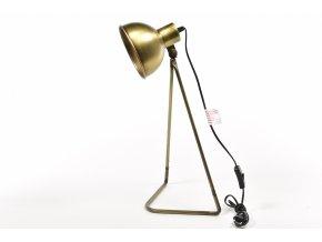 129758 vintage stolni lampa z kovu 28x23xh 54cm