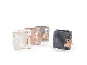 papírová taška s papírem 13cmxh13.x 7cm různé barvy