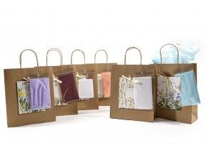 """""""botanická"""" hnědá taška se 2 tkáněmi h32x26x10cm s různými dekoracemi"""