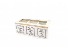 """""""Earl grey"""" držák na krabici 3 dřevěné přihrádky 24x10xh.9cm"""