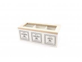 130778 earl grey drzak na krabici 3 drevene prihradky 24x10xh 9cm