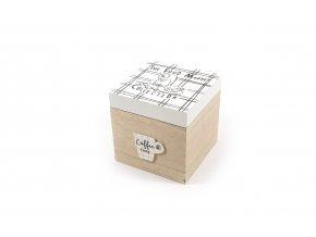 130796 kitchen krabicka na kavove kapsle ve dreve 15x15xh 15cm