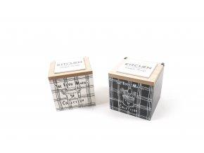 """""""kitchen"""" víceúčelová dřevěná krabička na koření 11x11xh.11,5cm"""