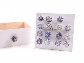 135536 keramicka uchytka s kovovymi castmi a rucne malovanymi dekoracemi d cm ruzne dekorace 4 5x6 5