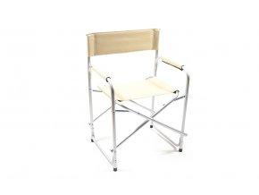 hliníková židle s látkovým sedákem a područkami 83x60x47cm