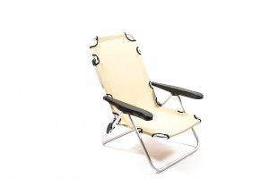 nastavitelná hliníková židle s látkovým sedadlem 90x63x66cm