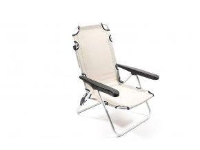 nastavitelná hliníková pláž s látkovým sedadlem 90x63x66cm