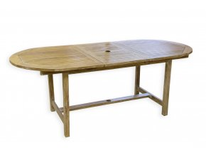 rozkládací venkovní stůl v teaku 200x95xh.73cm